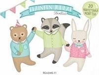 Eläinten juhlat - väritettävät kutsukortit