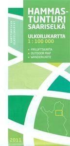 Hammastunturi-Saariselkä ulkoilukartta 1:100 000