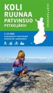 Koli-Ruunaa-Patvinsuo-Petkeljärvi ulkoilukartta
