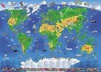 Lasten suuri maailmankartta (135x95 cm)