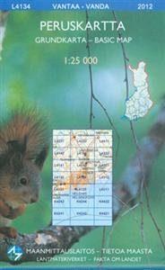 Maastokartta L4134 Vantaa peruskartta
