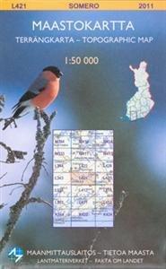 Maastokartta L421 Somero 1:50 000