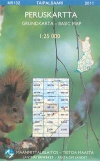 Maastokartta M5132 Taipalsaari 1:25 000