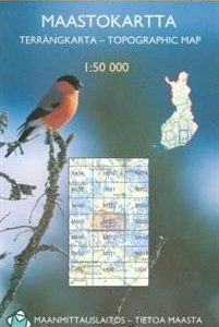 Maastokartta M521 Ristiina 1:50 000