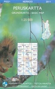 Maastokartta P5221 Nerkoo 1:25 000