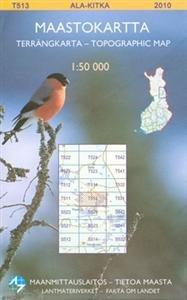 Maastokartta T513 Ala-Kitka 1:50 000