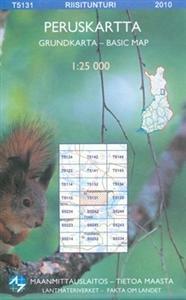 Maastokartta T5131 Riisitunturi 1:25 000