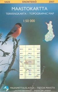 Maastokartta V423 Enontekiö 1:50000