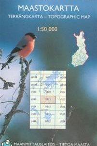 Maastokartta V521 Saariselkä 1:50 000