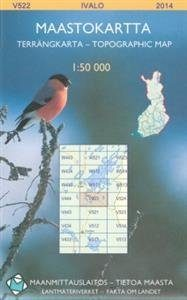 Maastokartta V522 Ivalo 1:50 000