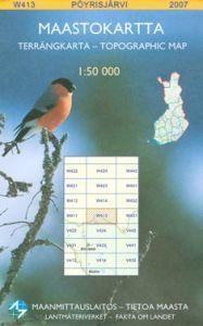 Maastokartta W413 Pöyrisjärvi 1:50000