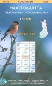 Maastokartta W444 Karigasniemi 1:50 000