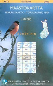 Maastokartta X512 Utsjoki 1:50 000