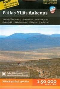 Pallas-Ylläs-Aakenus tunturikartta 1:50 000