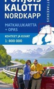 Pohjoiskalotti Nordkapp matkailukartta + opas