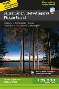 Seitseminen-Helvetinjärvi-Pirkan taival retkeilykartta