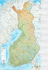 Suomi seinäkartta