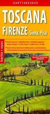 Toscana ja Firenze kartta + opas