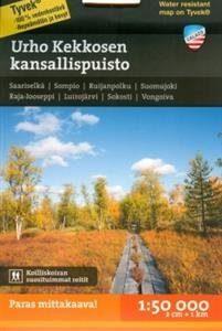 Urho Kekkosen kansallispuisto tunturikartta 1:50 000